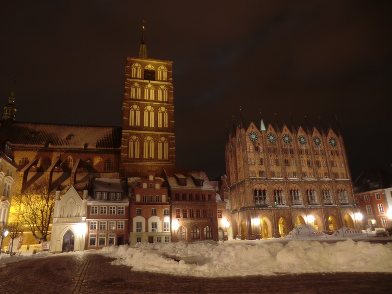 Earth Hour in Stralsund: hell